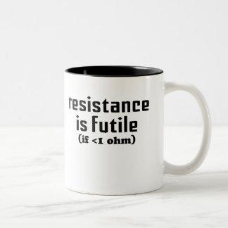 La resistencia es taza de café vana