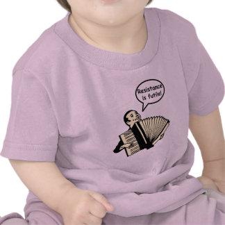 ¡La resistencia es vana Acordeón Camiseta