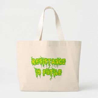 La resistencia es vana bolsa lienzo
