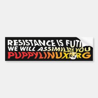 La resistencia es vana pegatina de parachoque