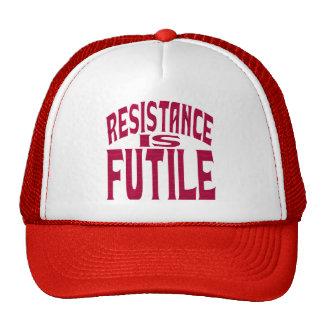 La resistencia es vana gorro de camionero