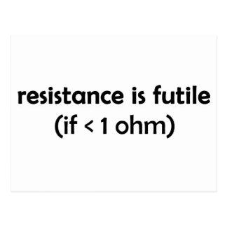 la resistencia es vana tarjetas postales