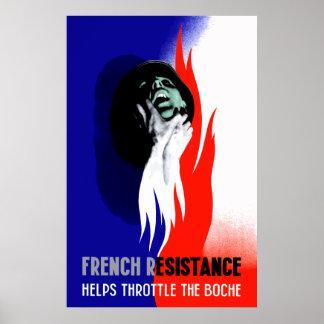 La resistencia francesa ayuda a la válvula regulad posters