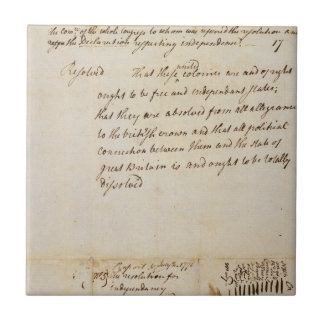 La resolución de Lee independencia del 2 de julio Azulejos