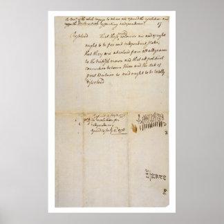 La resolución de Lee independencia del 2 de julio  Póster