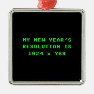 La resolución de pantalla 1024x768 del Año Nuevo Adorno Navideño Cuadrado De Metal