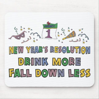 La resolución del Año Nuevo Alfombrilla De Ratones