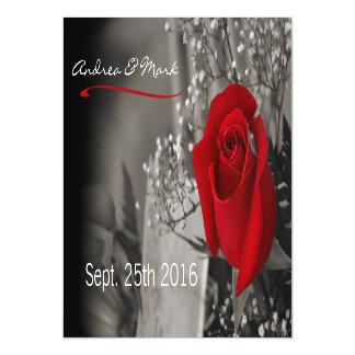 La respiración del bebé elegante del rosa rojo se invitaciones magnéticas