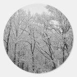 La respiración pasada del invierno pegatinas redondas
