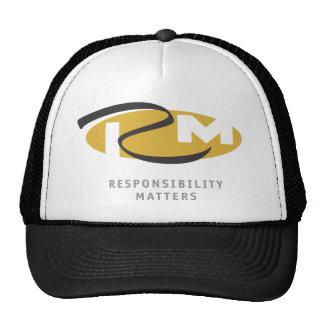 La responsabilidad importa gorra