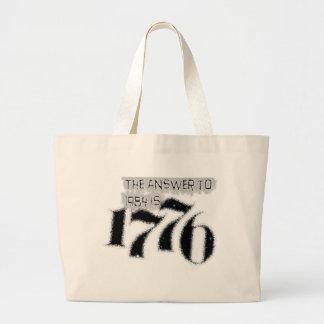 La respuesta a 1984 es 1776 bolsa lienzo