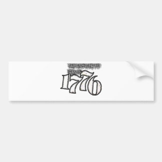 La respuesta a 1984 es 1776 pegatina de parachoque