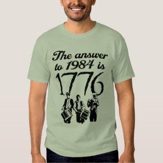 La respuesta a 1984 es 1776 polera
