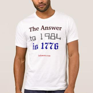 La respuesta a 1984 es 1776 remeras