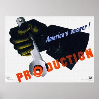 La respuesta de América - poster de la producción