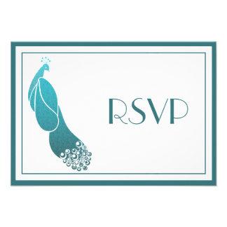 La respuesta de RSVP carda el pavo real del art dé Anuncios Personalizados