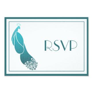 """La respuesta de RSVP carda el pavo real del art Invitación 3.5"""" X 5"""""""