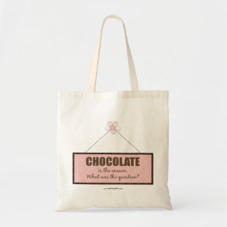 La respuesta del chocolate bolsa tela barata