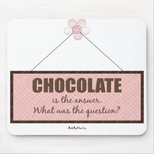 La respuesta del chocolate mouse pads