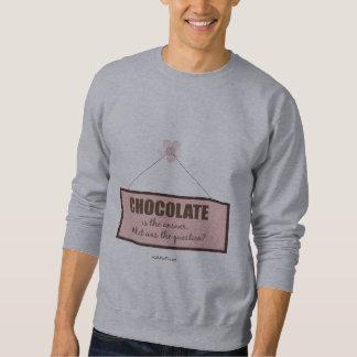 La respuesta del chocolate sudaderas encapuchadas