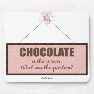 La respuesta del chocolate alfombrilla de ratones