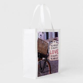 La respuesta es siempre amor bolsa reutilizable