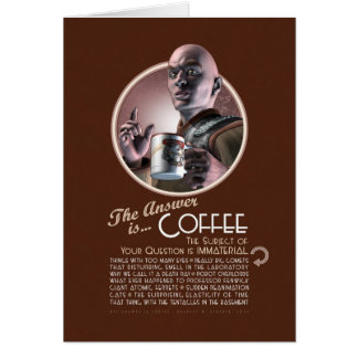 La respuesta es tarjeta de felicitación del café