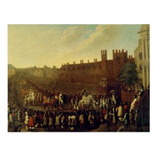 La restauración de Charles II en Whitehall Tarjeta Postal