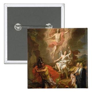 La resurrección de Cristo, 1700 Pin Cuadrada 5 Cm