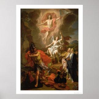 La resurrección de Cristo de Noel Coypel (1700) Poster