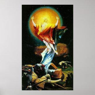 La resurrección de Cristo por Grunewald Poster