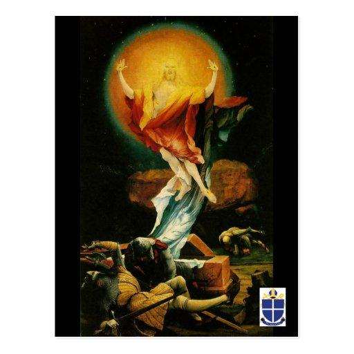 La resurrección de la postal de Cristo - diócesis