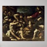 La resurrección de Lazarus, c.1619 Póster
