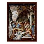 La resurrección de Lazarus de Boccaccino Camillo Tarjetas Postales