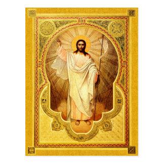 La resurrección de nuestro señor - tarjeta del ico tarjeta postal