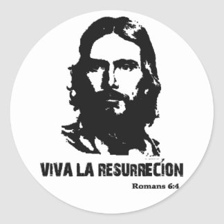 La Resurrecion de Viva Pegatina Redonda