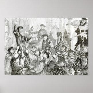 La retractación del arzobispo Cranmer Póster