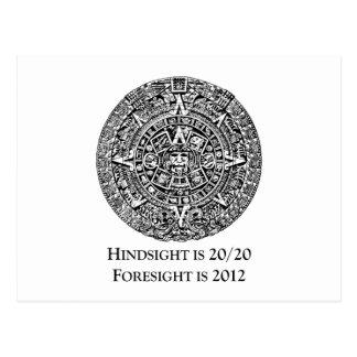 La retrospección es 20/20 previsión es 2012 postales