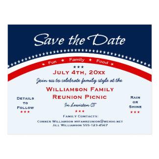 La reunión azul blanca roja, fiesta, ahorra la postales