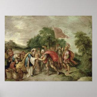 La reunión de Abraham y de Melchizedek Póster