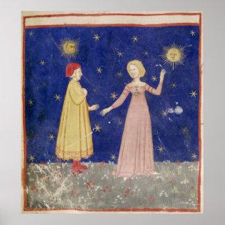 La reunión de Dante y de Beatriz Póster