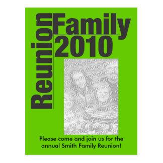 La reunión de familia 2010 invita postal