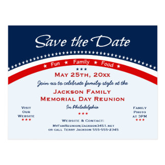 La reunión de familia del Memorial Day, fiesta, Tarjetas Postales