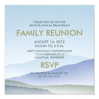 """La reunión de familia personalizada de la montaña invitación 5.25"""" x 5.25"""""""