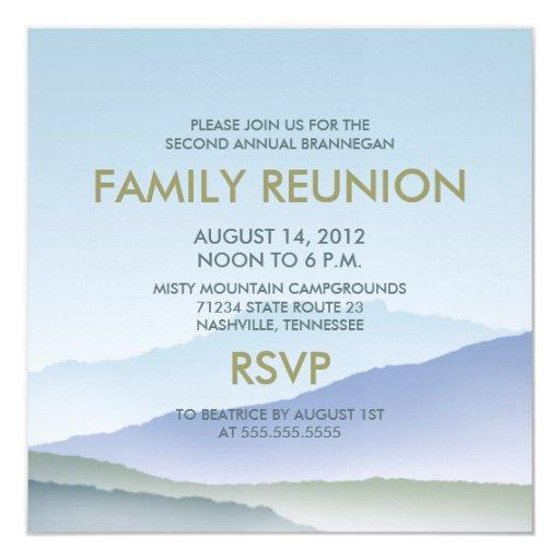 La reunión de familia personalizada de la montaña invitacion personalizada