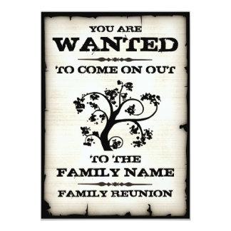 """La reunión de familia quiso invitaciones invitación 5"""" x 7"""""""
