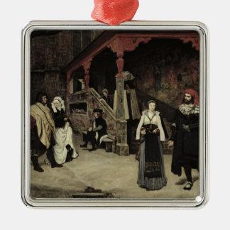 La reunión de Fausto y de la margarita, 1860 Adornos De Navidad