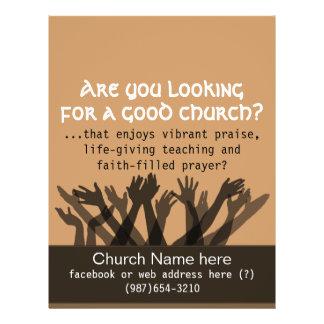 """La reunión de la adoración invita. a Bible.Healing Folleto 8.5"""" X 11"""""""