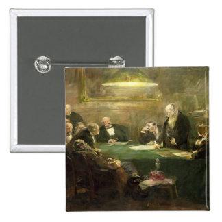 La reunión de la junta directiva, 1900 pin cuadrado