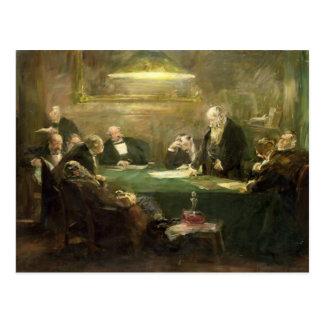 La reunión de la junta directiva, 1900 tarjetas postales